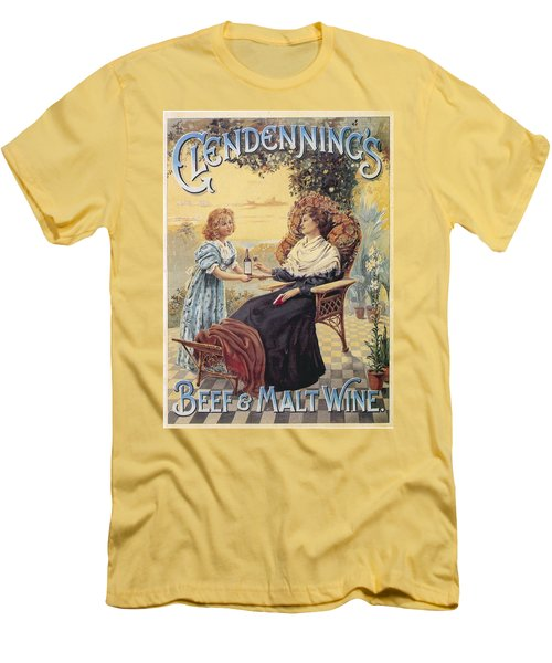 Men's T-Shirt (Slim Fit) featuring the photograph Glendenning's Beef And Malt Wine Ad by Gianfranco Weiss