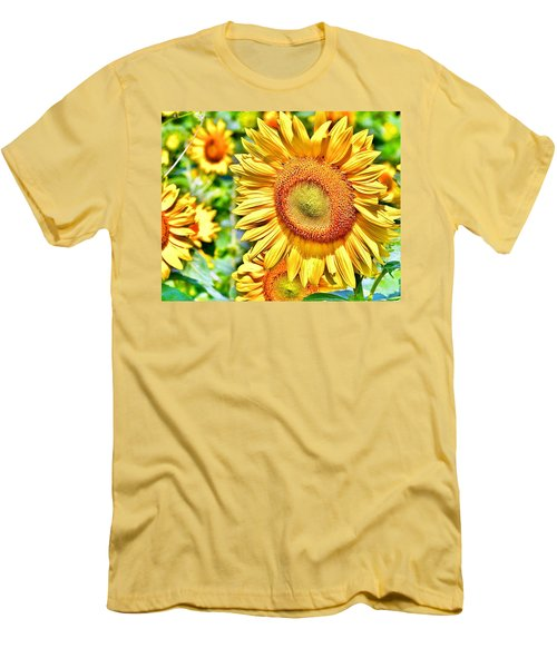 Glorious Sunflowers Men's T-Shirt (Athletic Fit)