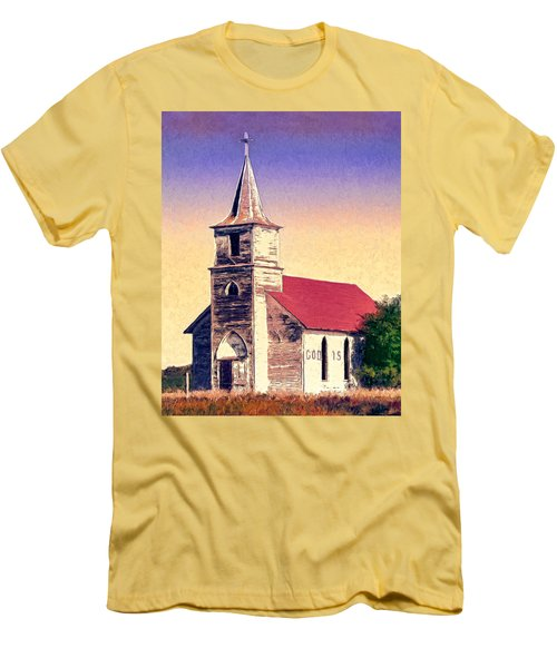 God Is Men's T-Shirt (Slim Fit) by Dominic Piperata
