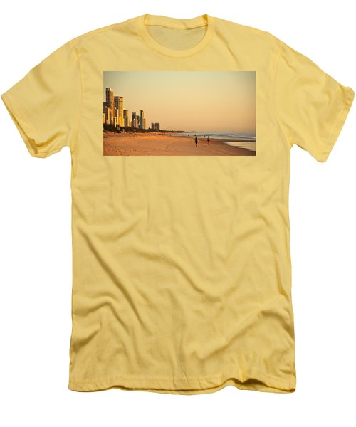 Men's T-Shirt (Slim Fit) featuring the photograph Gold Coast Beach by Eric Tressler