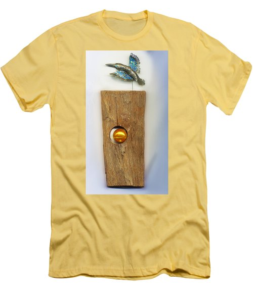 Gold  Orb Men's T-Shirt (Slim Fit) by Hartmut Jager