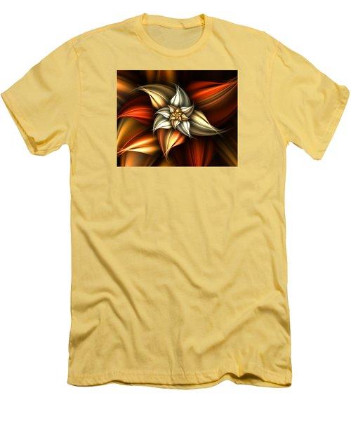 Men's T-Shirt (Slim Fit) featuring the digital art Golden Beauty by Ester  Rogers