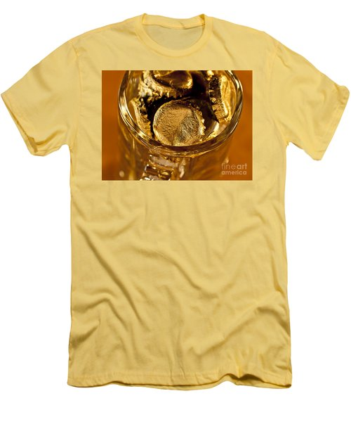 Men's T-Shirt (Slim Fit) featuring the photograph Golden Beer  Mug  by Wilma  Birdwell