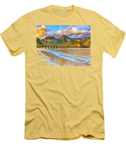 Golden Hanalei Morning Men's T-Shirt (Athletic Fit)