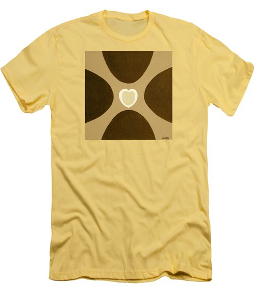 Golden Heart 3 Men's T-Shirt (Athletic Fit)