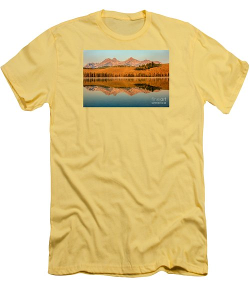 Golden Mountains  Reflection Men's T-Shirt (Athletic Fit)