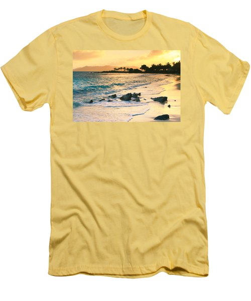 Golden Sunrise On Sapphire Beach Men's T-Shirt (Athletic Fit)