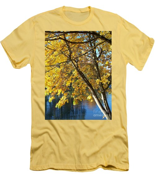 Men's T-Shirt (Slim Fit) featuring the photograph Golden Zen by Chalet Roome-Rigdon