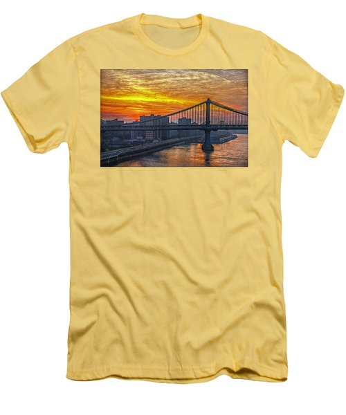 Good Morning New York Men's T-Shirt (Slim Fit) by Hanny Heim