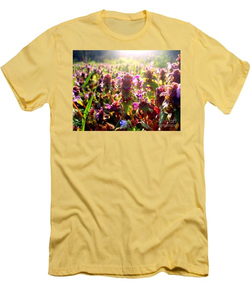 Men's T-Shirt (Slim Fit) featuring the photograph Good Morning by Nina Ficur Feenan