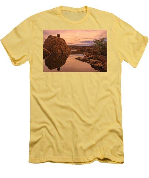 Men's T-Shirt (Slim Fit) featuring the photograph Granite Dells by Priscilla Burgers