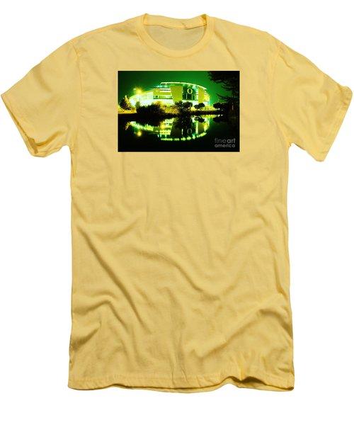 Green Power- Autzen At Night Men's T-Shirt (Athletic Fit)