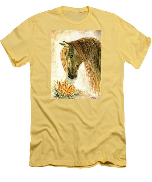 Greeting A Sunflower Men's T-Shirt (Athletic Fit)
