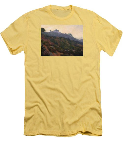 Griffith Park Observatory- Late Morning Men's T-Shirt (Slim Fit) by Jane Thorpe