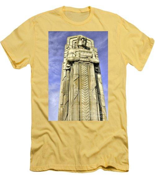 Guardian Of Traffic - 5 Men's T-Shirt (Slim Fit) by David Bearden