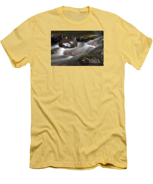 Gurgling Brook Men's T-Shirt (Slim Fit) by Andy Crawford