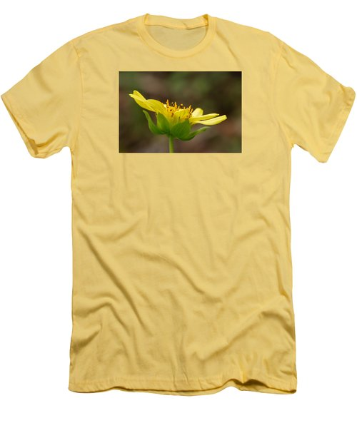 Men's T-Shirt (Slim Fit) featuring the photograph Hairy Leafcup by Paul Rebmann