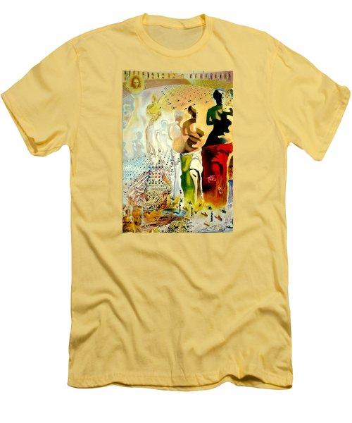 Halucinogenic Toreador By Salvador Dali Men's T-Shirt (Slim Fit) by Henryk Gorecki