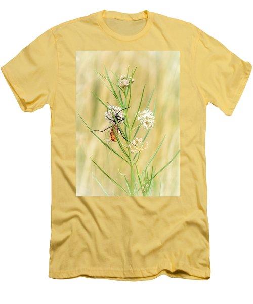Hanging On Men's T-Shirt (Slim Fit) by Debra Martz