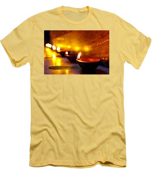 Happy Diwali Men's T-Shirt (Slim Fit) by Prakash Ghai