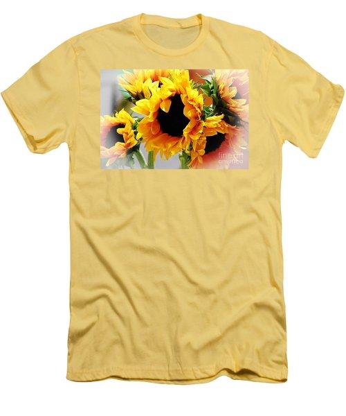 Happy Sunflowers Men's T-Shirt (Athletic Fit)