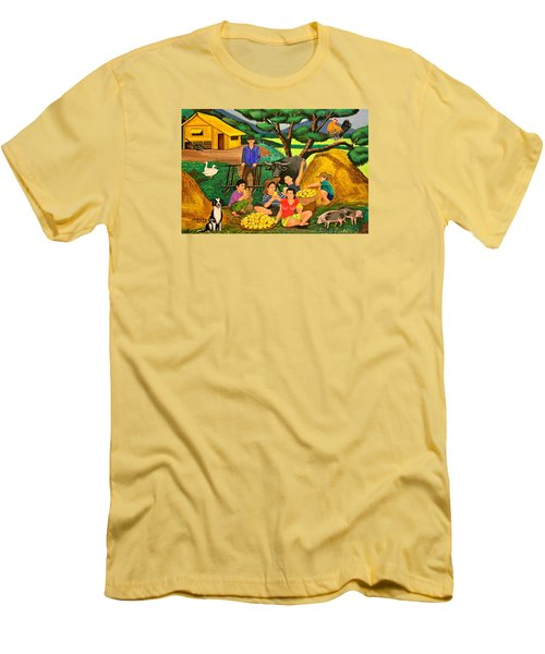 Men's T-Shirt (Slim Fit) featuring the painting Harvest Time by Lorna Maza