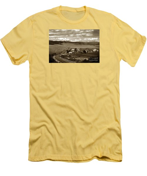 Hatton Ranch Carmel Valley From Highway One California  1940 Men's T-Shirt (Slim Fit) by California Views Mr Pat Hathaway Archives
