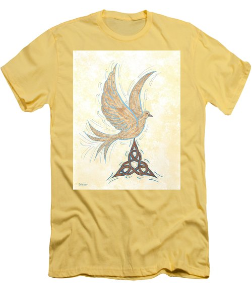 Men's T-Shirt (Slim Fit) featuring the painting He Set Us Free by Susie WEBER