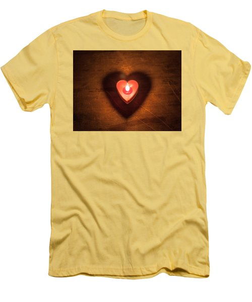 Heart Light Men's T-Shirt (Slim Fit) by Aaron Aldrich