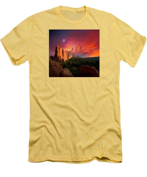 Heavenly Garden Men's T-Shirt (Slim Fit) by John Hoffman