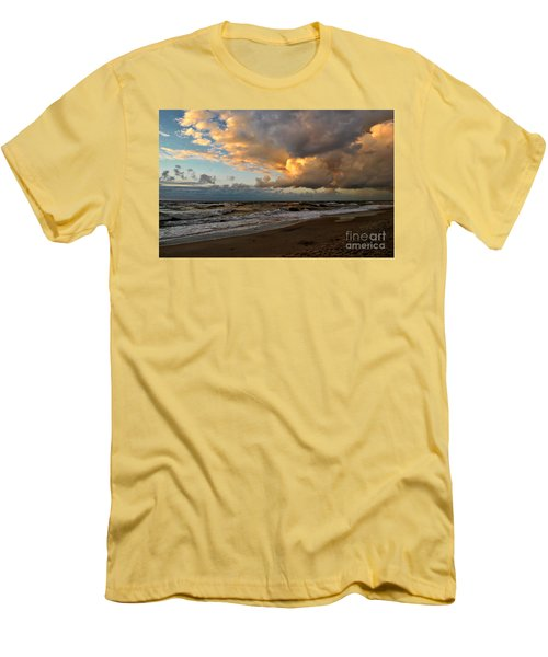 Men's T-Shirt (Slim Fit) featuring the photograph Heavy Clouds Over Baltic Sea by Maja Sokolowska
