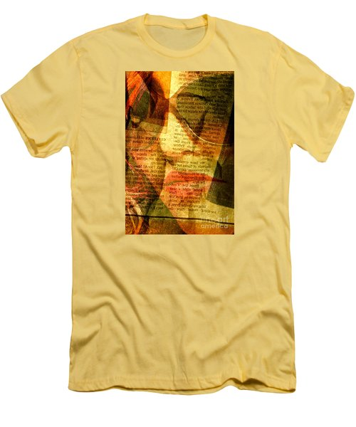 Hiding From The News Men's T-Shirt (Slim Fit) by Michael Cinnamond