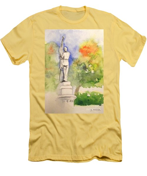 Highland Cemetery-plein Air-ypsilanti Michigan 1 Men's T-Shirt (Athletic Fit)
