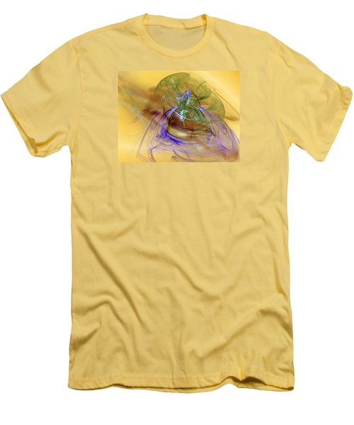 Men's T-Shirt (Slim Fit) featuring the digital art Holiday In Cambodia by Jeff Iverson