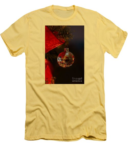 Men's T-Shirt (Slim Fit) featuring the photograph Holiday Season by Linda Shafer