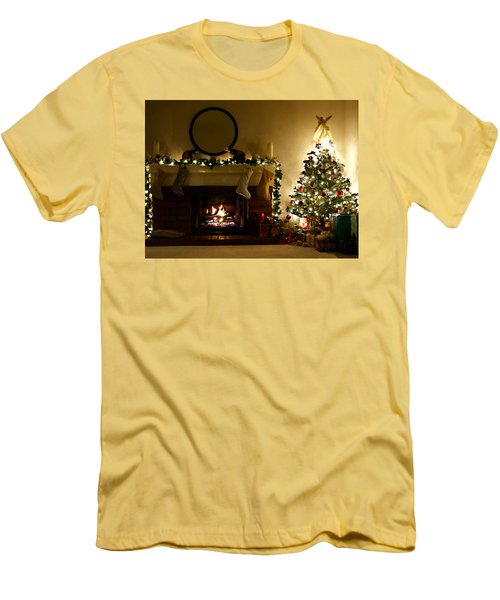 Home For The Holidays Men's T-Shirt (Slim Fit) by Ellen Henneke