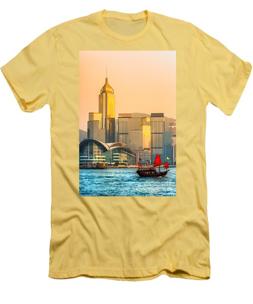 Hong Kong. Men's T-Shirt (Slim Fit) by Luciano Mortula