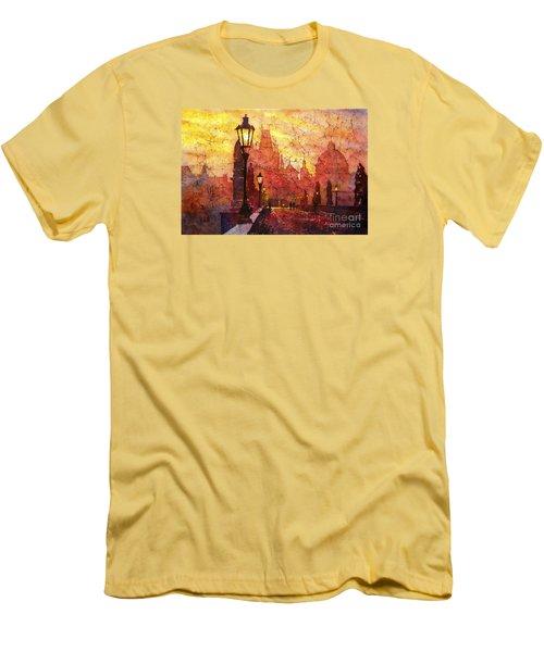 Horizontal Flip Men's T-Shirt (Slim Fit) by Ryan Fox