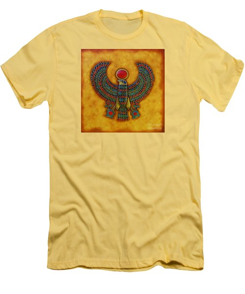 Men's T-Shirt (Slim Fit) featuring the mixed media Horus by Joseph Sonday