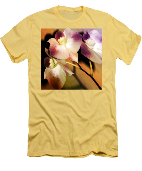 Hot Orchid Nights Men's T-Shirt (Slim Fit) by Holly Kempe