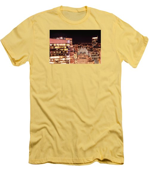 Men's T-Shirt (Slim Fit) featuring the photograph Hotel Vancouver And Wall Center Mdccv by Amyn Nasser