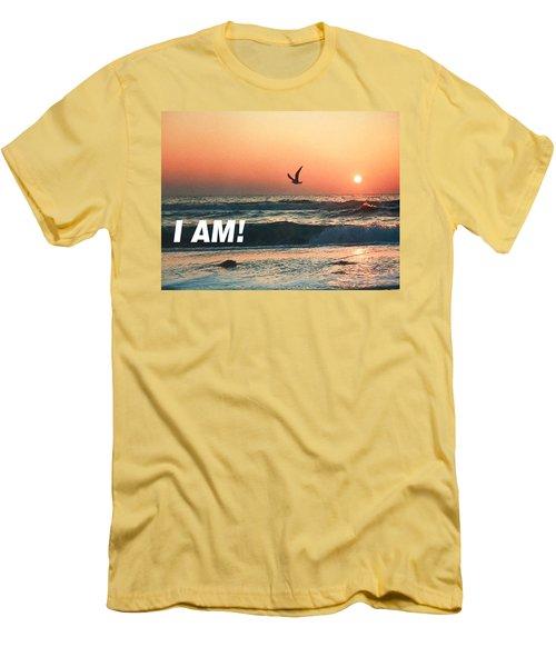 The Great I Am  Men's T-Shirt (Slim Fit) by Belinda Lee