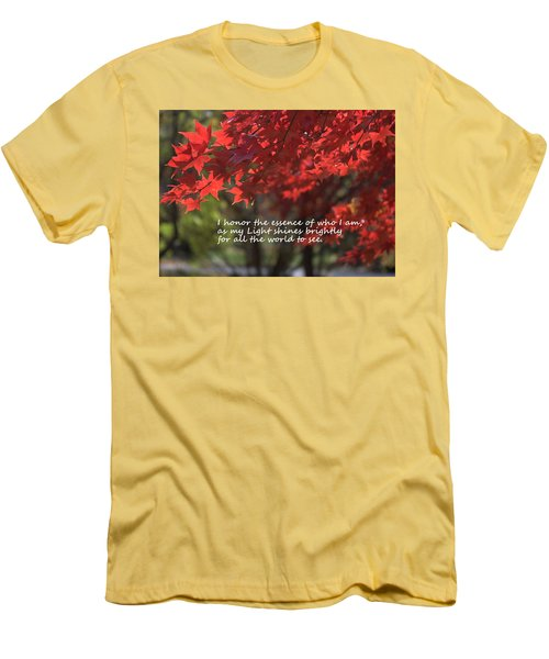 Men's T-Shirt (Slim Fit) featuring the photograph I Honor The Essence Of Who I Am by Patrice Zinck