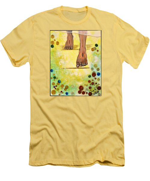 Men's T-Shirt (Slim Fit) featuring the painting I Knock by Cassie Sears