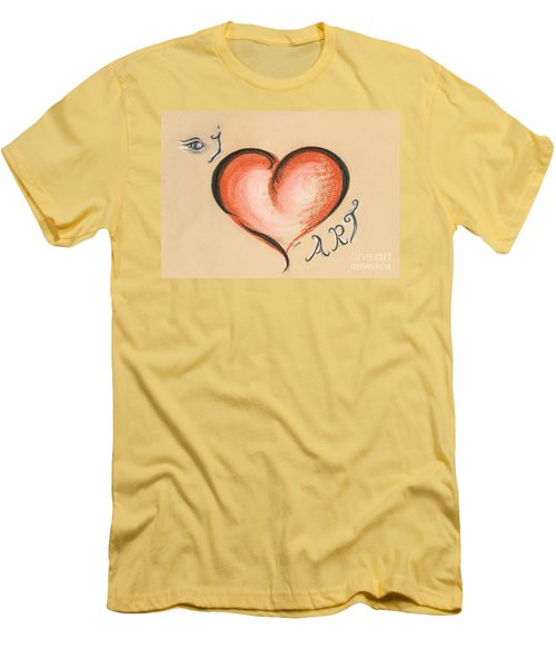 I Love Art Men's T-Shirt (Athletic Fit)