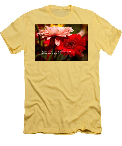 Men's T-Shirt (Slim Fit) featuring the photograph I Will Be An Inspiration by Patrice Zinck