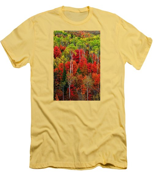 Idaho Autumn Men's T-Shirt (Slim Fit) by Greg Norrell