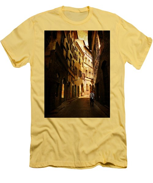Men's T-Shirt (Slim Fit) featuring the photograph Il Turista by Micki Findlay