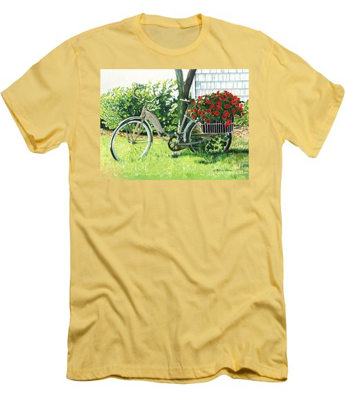 Impatiens To Ride Men's T-Shirt (Slim Fit) by LeAnne Sowa