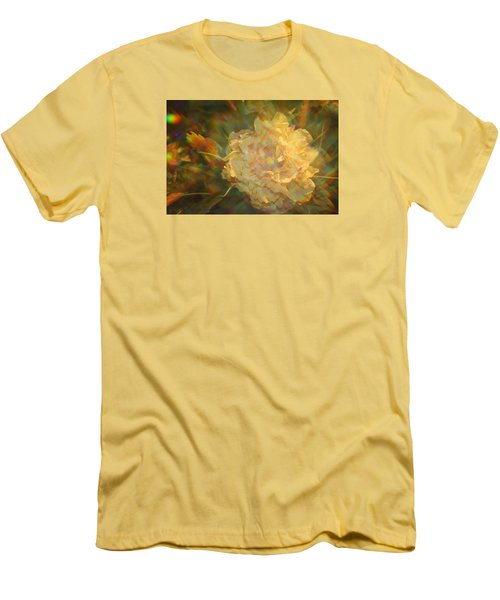 Men's T-Shirt (Slim Fit) featuring the photograph Impressionistic Rose by Dora Sofia Caputo Photographic Art and Design